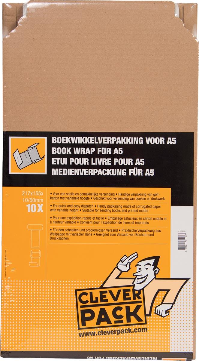 Cleverpack wikkelverpakking uit golfkarton, ft 155 x 217 x 10 / 50 mm, pak van 10 stuks-3