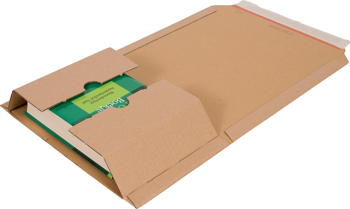 Cleverpack wikkelverpakking uit golfkarton, ft 155 x 217 x 10 / 50 mm, pak van 10 stuks