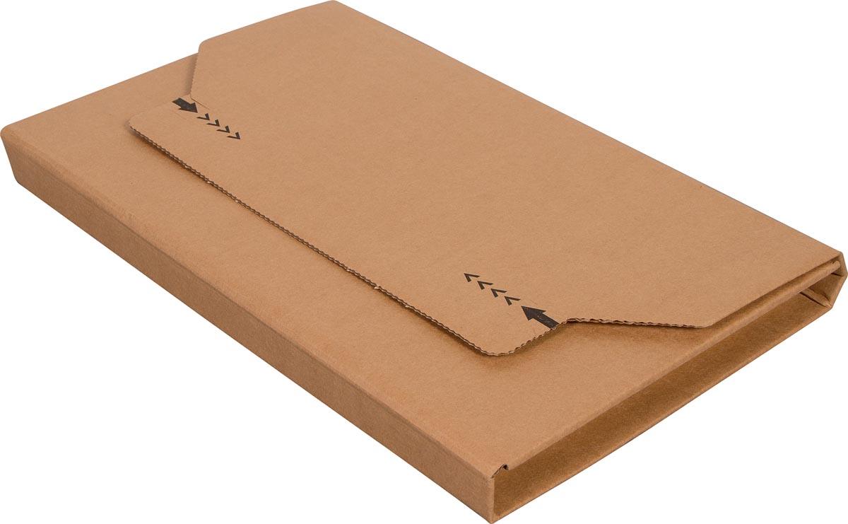 Cleverpack wikkelverpakking uit golfkarton, ft 215 x 305 x 20 / 80 mm, pak van 10 stuks-2
