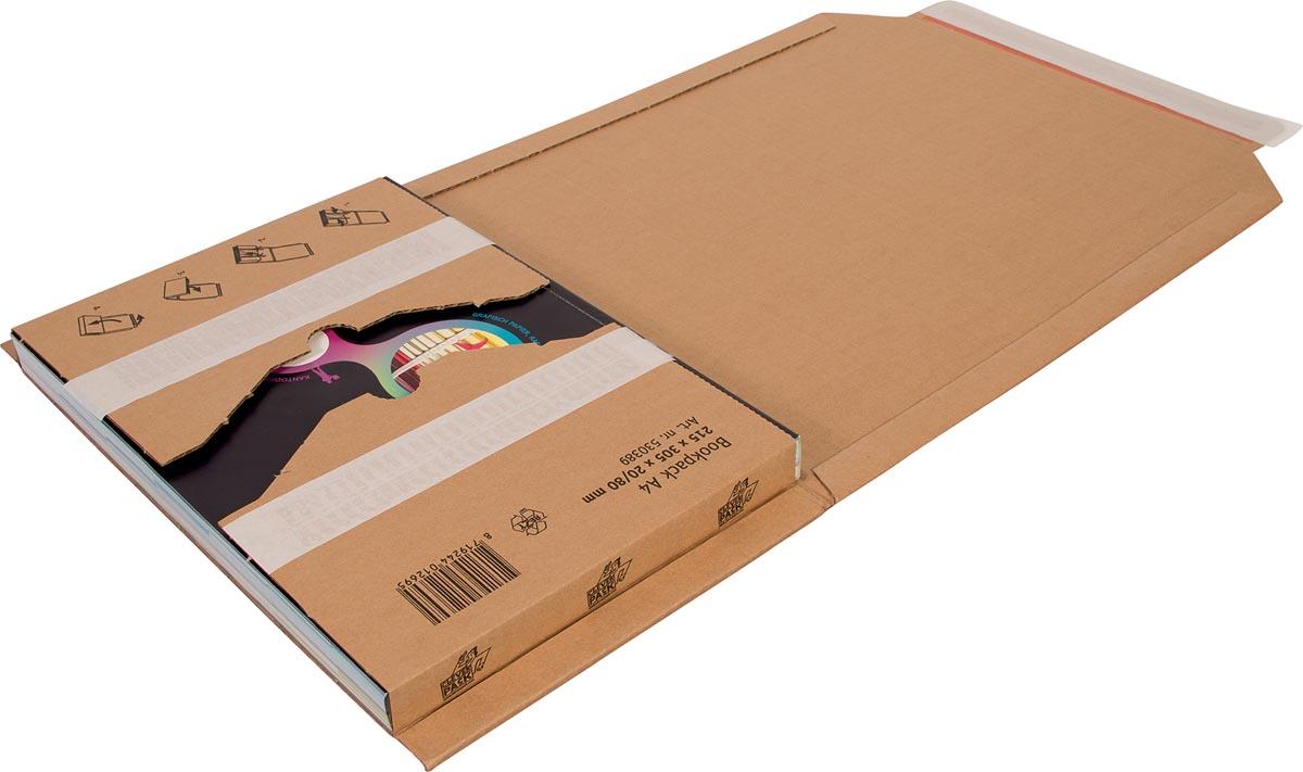 Cleverpack wikkelverpakking uit golfkarton, ft 215 x 305 x 20 / 80 mm, pak van 10 stuks