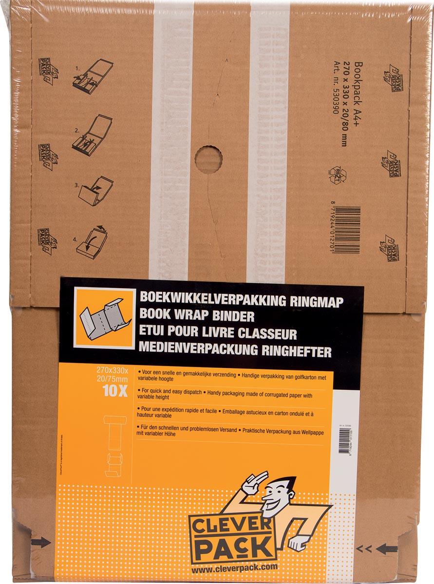 Cleverpack wikkelverpakking uit golfkarton, ft 270 x 330 x 20 / 80, pak van 10 stuks-3