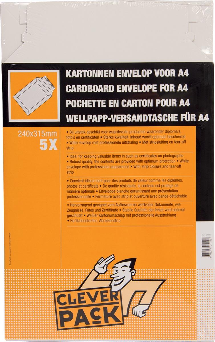 Cleverpack verzendenvelop A4, ft 240 x 315 mm , pak van 5 stuks-2