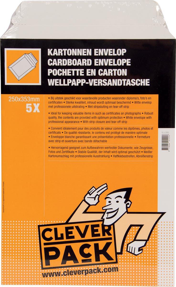 Cleverpack verzendenvelop B4, ft 250 x 353 mm, pak van 5 stuks-2