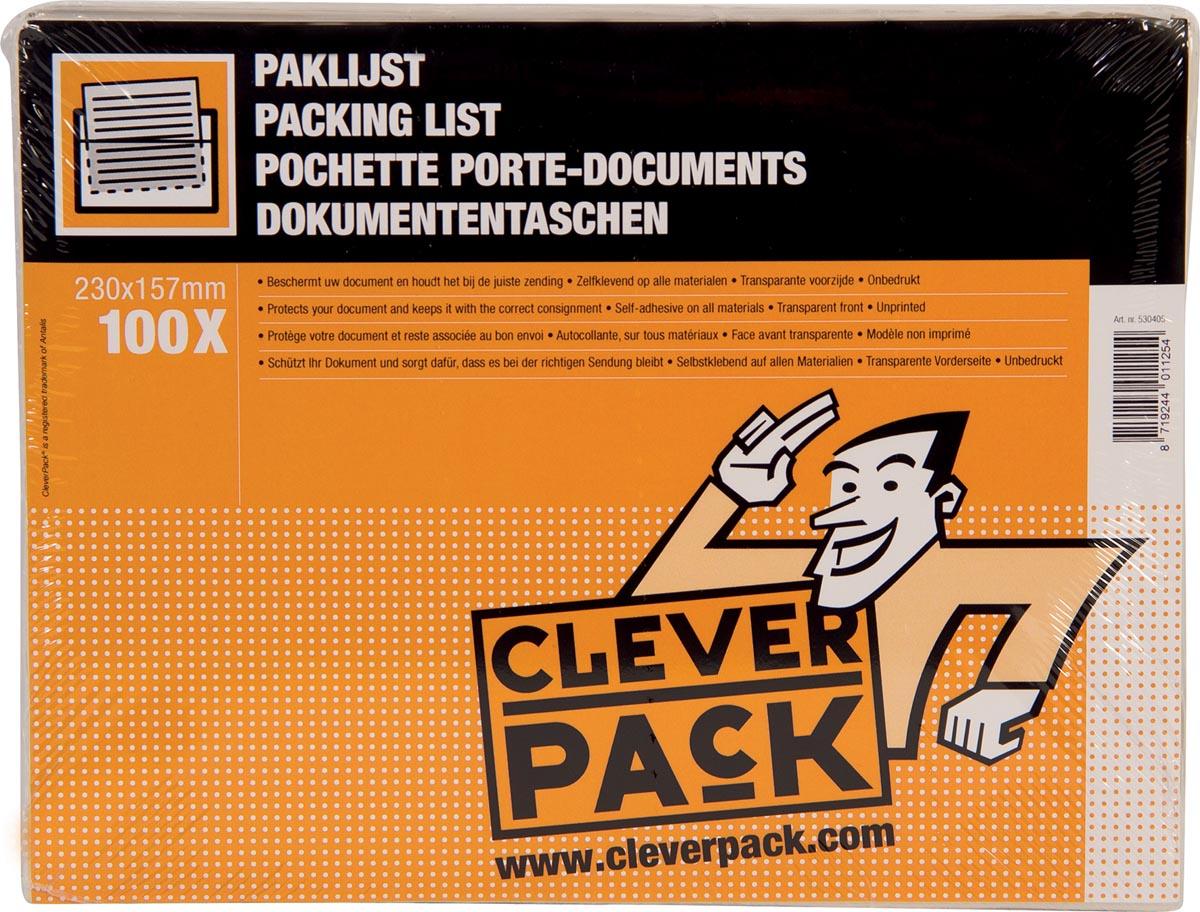 Cleverpack documenthouder, onbedrukt, ft 230 x 157 mm, pak van 100 stuks-2
