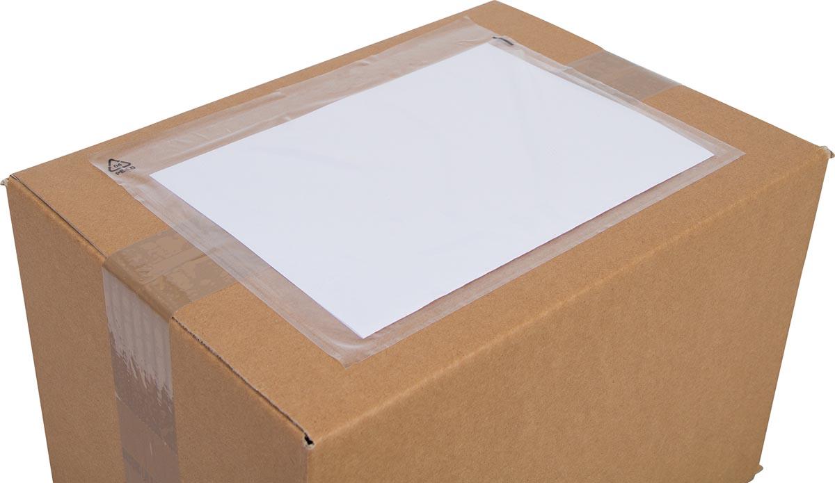 Cleverpack documenthouder, onbedrukt, ft 230 x 157 mm, pak van 100 stuks-3
