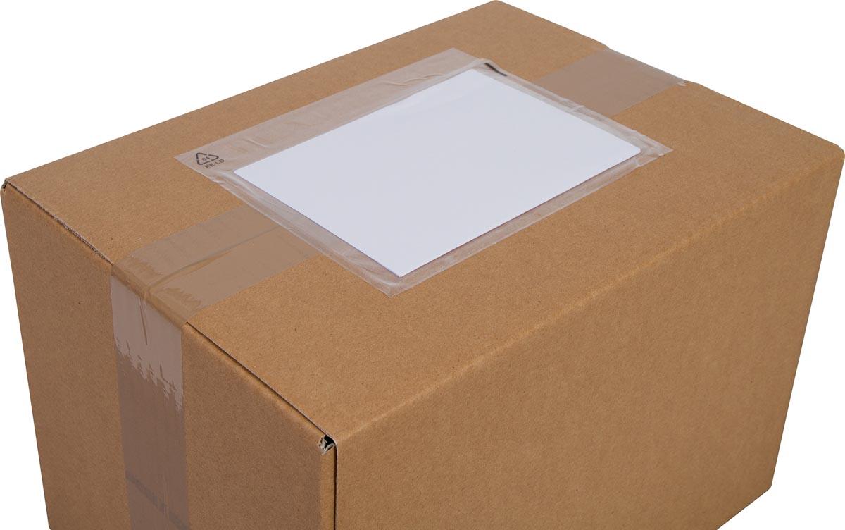 Cleverpack documenthouder, onbedrukt, ft 165 x 112 mm, pak van 100 stuks-3