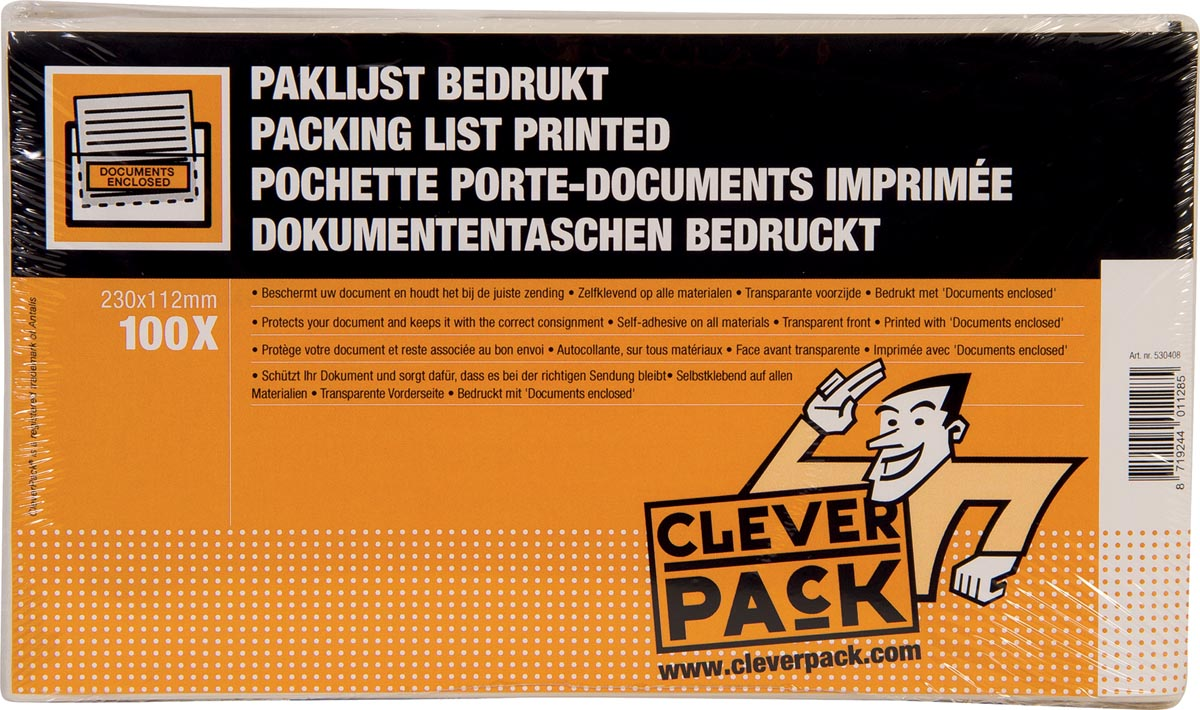 Cleverpack documenthouder Documents Enclosed, ft 230 x 112 mm, pak van 100 stuks-2