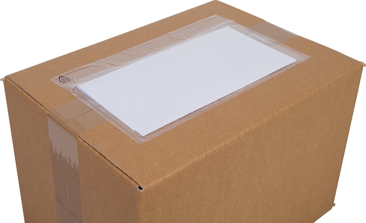 Cleverpack documenthouder, onbedrukt,  ft 230 x 112 mm, pak van 100 stuks-3
