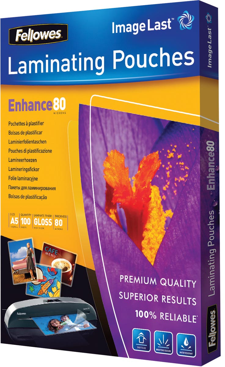Fellowes lamineerhoes Enhance80 ft A5, 160 micron (2 x 80 micron), pak van 100 stuks