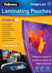 Fellowes lamineerhoes ft A4, 160 micron (2 x 80 micron), pak van 100 stuks