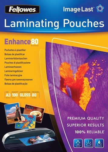 Fellowes lamineerhoes Enhance80 ft A3, 160 micron (2 x 80 micron), pak van 100 stuks