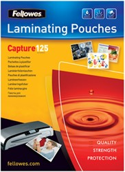Fellowes lamineerhoes ft 83 x 113 mm, 250 micron (2 x 125 micron), pak van 100 stuks