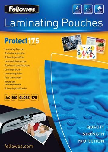 Fellowes lamineerhoes Protect175 ft A4, 350 micron (2 x 175 micron), pak van 100 stuks