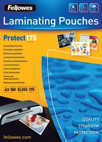 Fellowes lamineerhoes Protect175 ft A3, 350 micron (2 x 175 micron), pak van 100 stuks