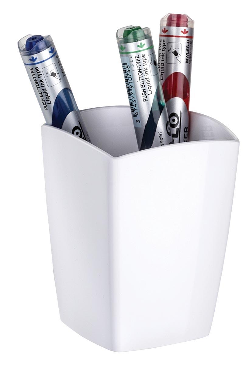 CEP Gloss mangetische pennenbakje wit 2 vakken