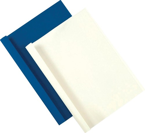 Fellowes thermische omslagen ft A4, 3 mm, pak van 100 stuks, leatherlook, blauw