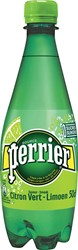 Perrier aromatiserend bruiswater smaak limoen, fles van 50 cl, pak van 24 stuks