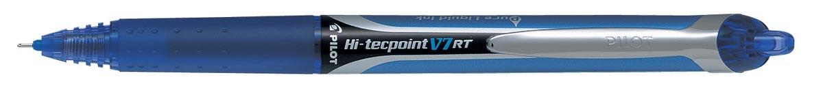 Pilot Roller Hi-Tecpoint V5 en V7 Retractable V7, schrijfbreedte 0,35 mm, blauw