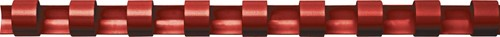 Fellowes bindruggen, pak van 100 stuks, 16 mm, rood
