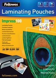 Fellowes lamineerhoes ft A3, 200 micron (2 x 100 micron), pak van 100 stuks
