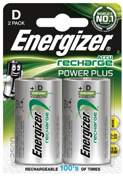 Energizer Enrd2500p2 Batterij Nimh D-lr20 1.2 V 2500 Mah Powerplus 2-blister