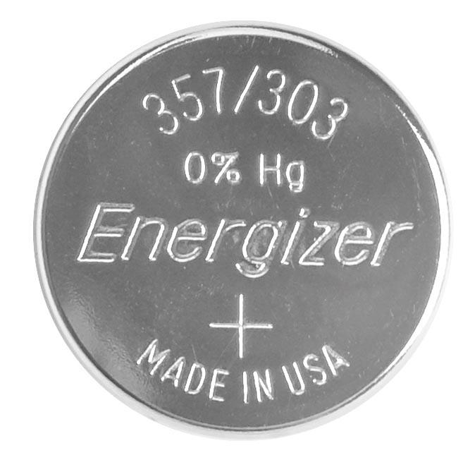 Energizer knoopcel 357/303, op blister