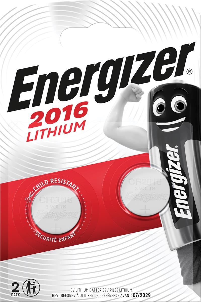 Energizer Batterij Energizer knoopcel CR2016-pak 2 (248340)