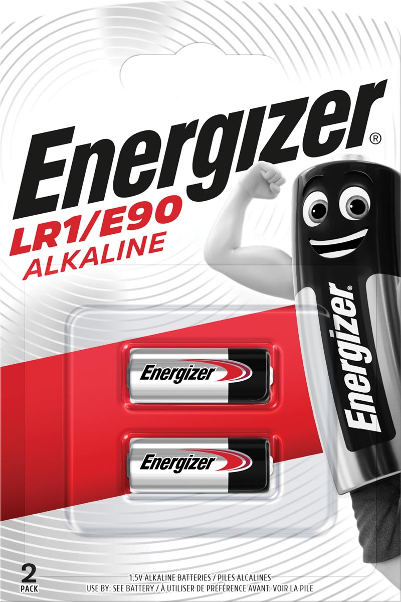 Energizer batterij Alkaline LR1/E90, blister van 2 stuks