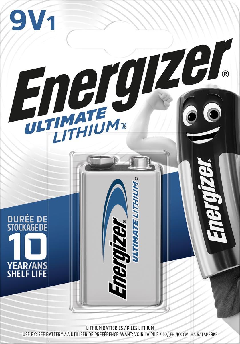 Energizer batterij Lithium 9V, op blister