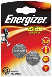 Energizer knoopcel CR2430, blister van 2 stuks