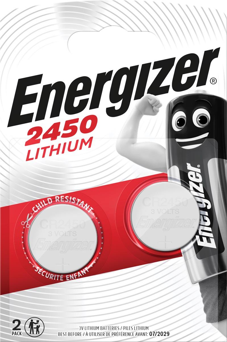 Energizer Knoopcel CR 2450 Lithium 620 mAh 3 V 2 stuks