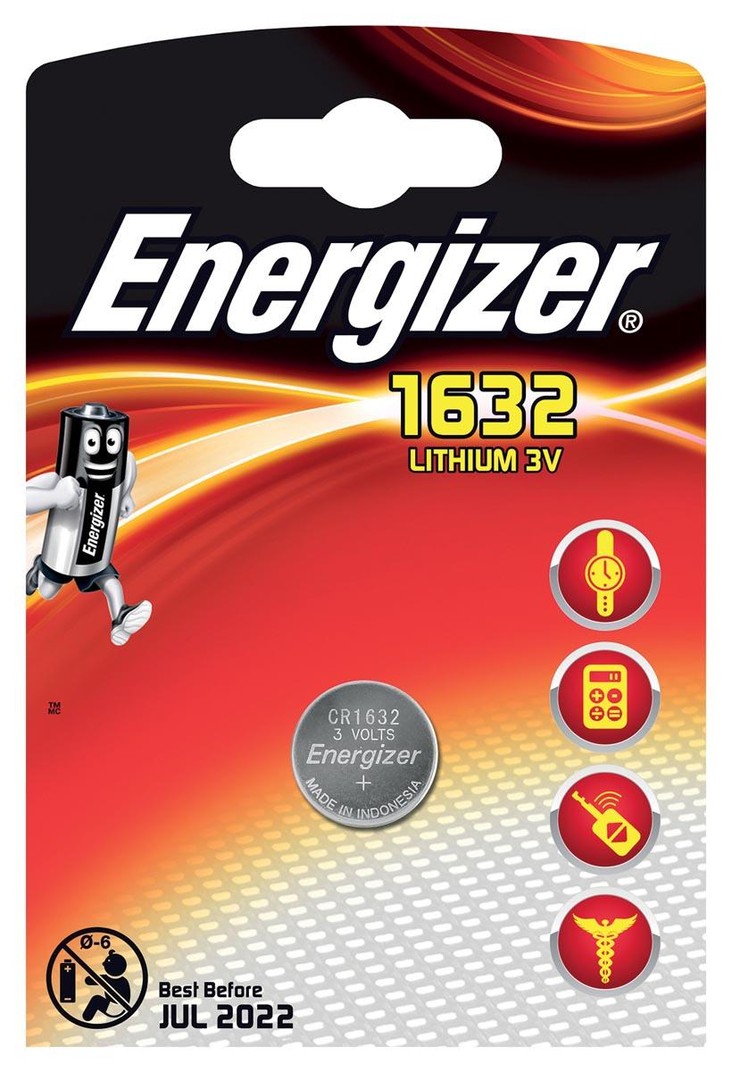 Energizer Knoopcel CR 1632 Lithium 130 mAh 3 V 1 stuks