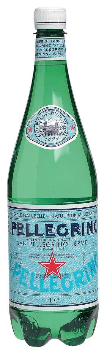San Pellegrino water, fles van 1 liter, pak van 6 stuks