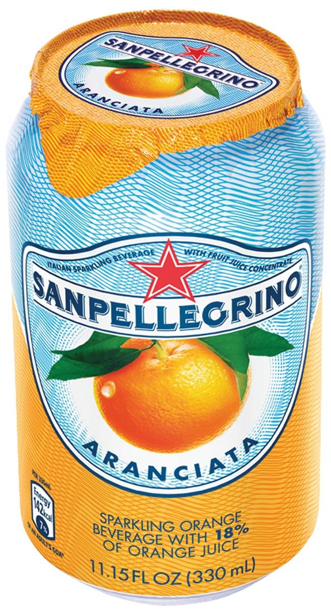 San Pellegrino limonade aranciata, blik van 33 cl, pak van 6 stuks
