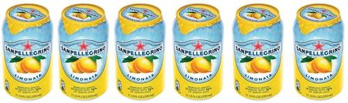San Pellegrino limonade limonata, blikje van 33 cl, pak van 6 stuks