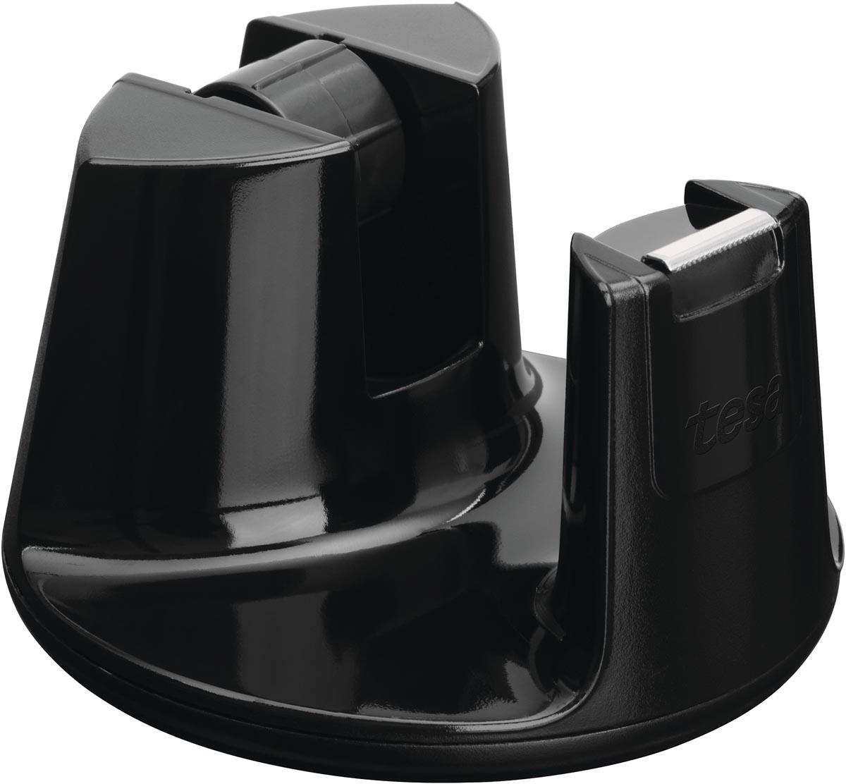 Tesa plakbandafroller Easy Cut Compact, voor rollen van ft 33 m x 19 mm, zwart