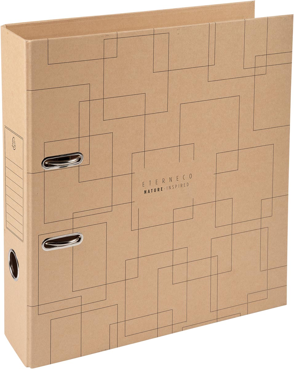 Exacompta Eterneco ordner met hefboom Prem'Touch, uit karton, ft A4, rug van 7 cm, kraftbruin