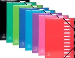 Exacompta Iderama sorteermap, 12 vakken, met elastosluiting, geassorteerde kleuren