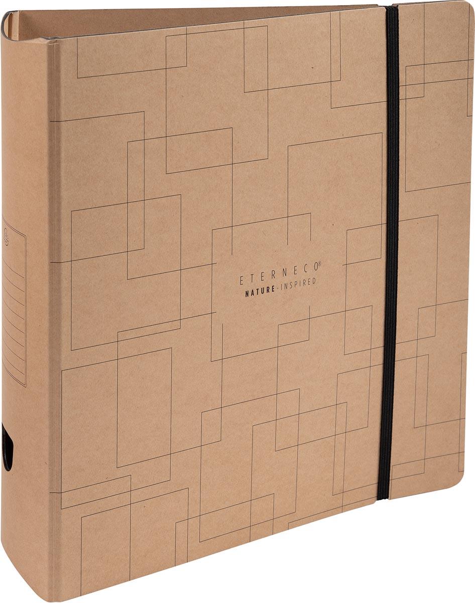 Exacompta Eterneco ordner met hefboom Prem'Touch, uit karton, ft A4, rug van 8 cm, kraftbruin