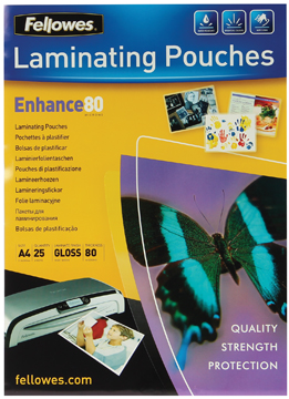Fellowes lamineerhoes ft A4, 160 micron (2 x 80 micron), pak van 25 stuks