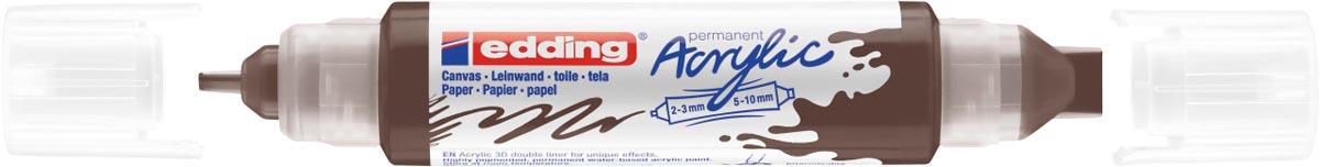 Edding 3D Acrylic marker double liner chocoladebruin