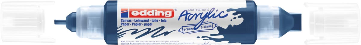 Edding 3D Acrylmarker double liner nachtblauw