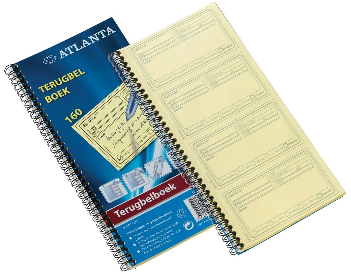 Atlanta by Jalema terugbelboeken 120 notities, zelfklevend/zelfkopiërend, Nederlandstalig