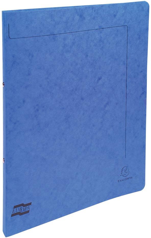 Exacompta ringmap in glanskarton, ft A4, 2 ringen van 1,5 cm, blauw
