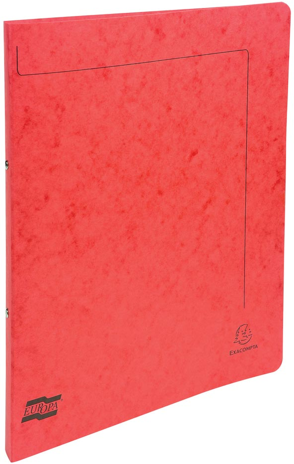 Exacompta ringmap in glanskarton, ft A4, 2 ringen van 1,5 cm, rood