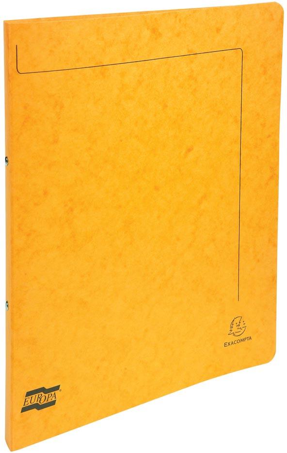 Exacompta ringmap in glanskarton, ft A4, 2 ringen van 1,5 cm, geel