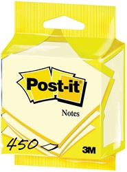 Post-it Notes, ft 76 x 76 mm, geel, blok van 450 vel, op blister