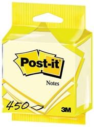 Post-it Notes, ft 76 x 76 mm, geel, blok van 450 vel, op blister