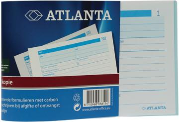 Atlanta by Jalema bonboekjes genummerd 1-100, 100 blad in tweevoud, met carbon