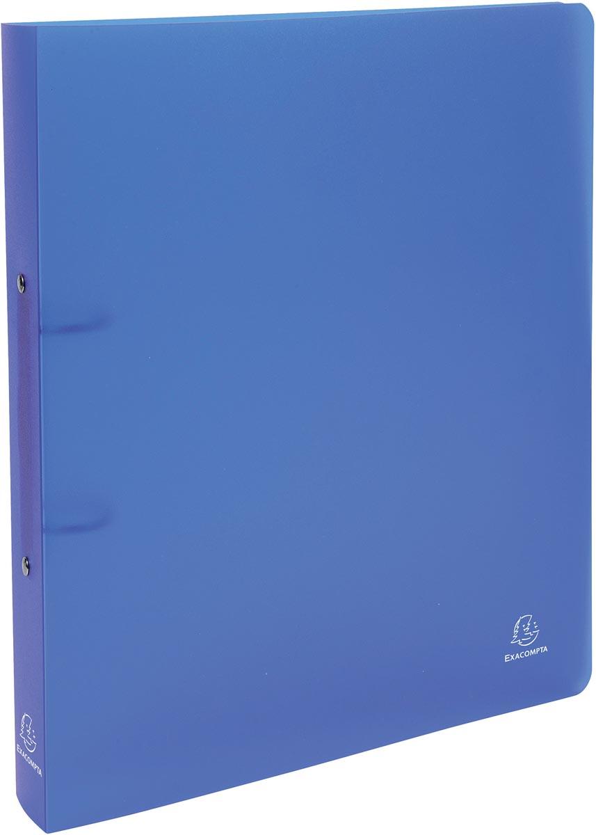 Exacompta ringmap Chromaline, voor ft A4 maxi, uit PP , 2 ringen van 30 mm, blauw